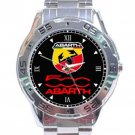 Abarth 500 Fiat Logo Stainless Steel Analogue Watch