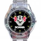 Scania V8 Logo Stainless Steel Analogue Watch