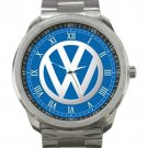 Volkswagon Car Logo Unisex Stainless Steel Sport Metal Watch