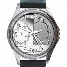 100th Anniversary of the Birth of Hergé With Tintin Unisex Round Silver Metal Watch