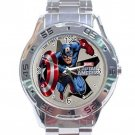 Marvel Captain America Cartoon Character Stainless Steel Analogue Watch
