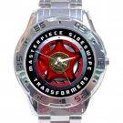 Transformers Masterpiece Sideswipe Logo Stainless Steel Analogue Watch