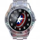 Captain America 3D Shield Stainless Steel Analogue Watch