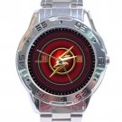 Flash Logo Stainless Steel Analogue Watch