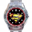 Superman Comic Logo Stainless Steel Analogue Watch