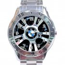 BMW Car Tyre Stainless Steel Analogue Watch