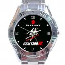 Suzuki Hayabusa Motorcycle GSX1300 Logo Stainless Steel Analogue Watch