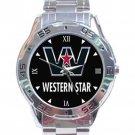 Western Star Trucks Logo Stainless Steel Analogue Watch