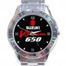 Suzuki V-Strom 650 Motorcycle Logo Stainless Steel Analogue Watch