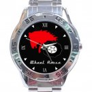 Wheel Horse Logo Stainless Steel Analogue Watch