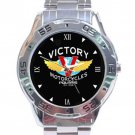 Victory Motorcycles Logo Stainless Steel Analogue Watch