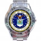 US Department Of The Air Force Logo Stainless Steel Analogue Watch