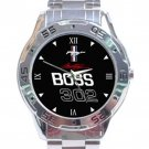 Ford Boss 302 Logo Stainless Steel Analogue Watch