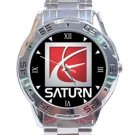 Saturn Corporation Logo Stainless Steel Analogue Watch