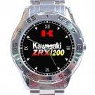 Kawasaki ZRX1200R Motorcycle Logo Stainless Steel Analogue Watch