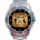 Wanted Cowboys & Aliens Notice Stainless Steel Analogue Watch