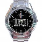 Ford Mustang Mach 1 Car Logo Stainless Steel Analogue Watch