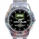 Jeep Wrangler OSCAR MIKE Car Logo Stainless Steel Analogue Watch