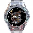 Marine Corps Eagle Logo Stainless Steel Analogue Watch