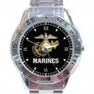 United States Marine Corps Marine Logo Stainless Steel Analogue Watch