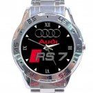 Audi RS7 Logo Stainless Steel Analogue Watch