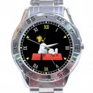 Cute Snoopy & Woodstock Stainless Steel Analogue Watch