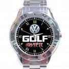 Volkswagen Golf GTI Logo Stainless Steel Analogue Watch