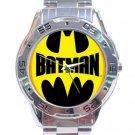 Batman Logo Stainless Steel Analogue Watch