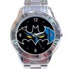 Batman Comic Bat Logo Stainless Steel Analogue Watch