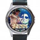 Remembering Michael Jackson 1958-2009 Unisex Round Silver Metal Watch
