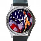 Bruce Springsteen Born In The USA Unisex Round Silver Metal Watch