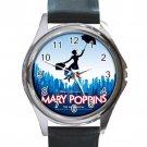 Mary Poppins Unisex Round Silver Metal Watch