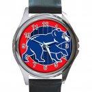 Chicago Bears Unisex Round Silver Metal Watch