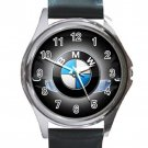 Nice BMW Car Logo Unisex Round Silver Metal Watch