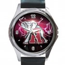 Alabama Crimson Tide Elephant Logo Unisex Round Silver Metal Watch