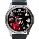 The Phantom of the Opera Unisex Round Silver Metal Watch