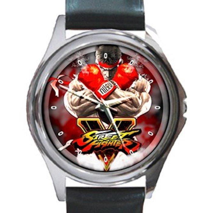 Street Fighter 2 Unisex Round Silver Metal Watch