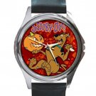 Scooby-Doo Pumpkin & Halloween Unisex Round Silver Metal Watch