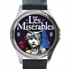 Les Miserables Unisex Round Silver Metal Watch