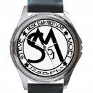 Steve Moet Unisex Round Silver Metal Watch