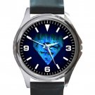 Unique Superman Blue Logo Unisex Round Silver Metal Watch
