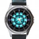 Unique Iron Man Arc Reactor Logo Unisex Round Silver Metal Watch