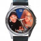 Wayne's World Movie Unisex Round Silver Metal Watch