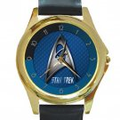Star Trek Logo Special Design Unisex Round Gold Metal Watch