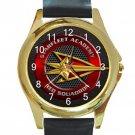 Starfleet Academy Red Squadron Unisex Round Gold Metal Watch