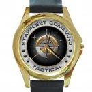 Starfleet Command Tactical Unisex Round Gold Metal Watch