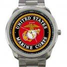 United States Marine Corps Emblem Unisex Sport Metal Watch