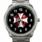 Resident Evil Umbrella Corps Logo Unisex Sport Metal Watch