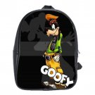 Goofy Disney Cartoon School Leather Backpacks Notebook Bags