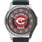 Cincinnati Reds Baseball Unisex Round Silver Metal Watch
